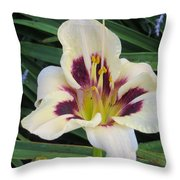 Creamy White Lily Throw Pillow
