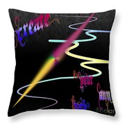 Create Your Own Path Verbally II Throw Pillow