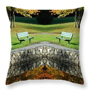 Creation 9 Throw Pillow
