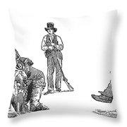 Creek Chiefs & Squatter Throw Pillow