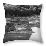 Creek In Texas Throw Pillow