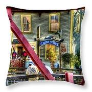 Creek Street - Ketchikan Alaska Throw Pillow