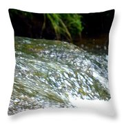 Creek Water Splash Throw Pillow