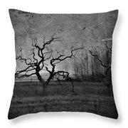 Creepy Way Home Throw Pillow