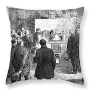 Cremation, 1876 Throw Pillow
