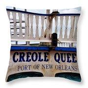 Creole Queen Throw Pillow