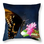 Crepe Myrtle Visitor Throw Pillow