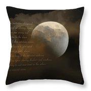 Cresent Moon  Throw Pillow by Joseph G Holland