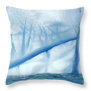 Crevasses Created By The Melting Throw Pillow