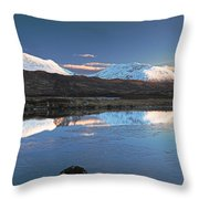 Crianlarich Sunset Throw Pillow