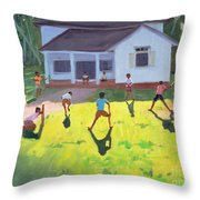 Cricket Throw Pillow by Andrew Macara