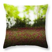 Crimson Clover Throw Pillow