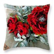 Crimson Desire Throw Pillow