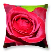 Crimson Red Rose Throw Pillow by Karon Melillo DeVega