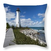 Crisp Point Lighthouse 10 Throw Pillow