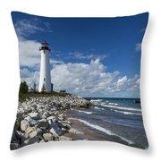 Crisp Point Lighthouse 11 Throw Pillow