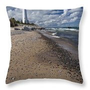 Crisp Point Lighthouse 14 Throw Pillow