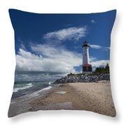 Crisp Point Lighthouse 6 Throw Pillow