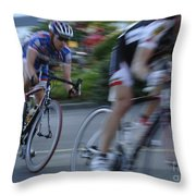 Criterium Bicycle Race 4 Throw Pillow