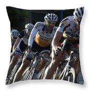 Criterium Bicycle Race 5 Throw Pillow