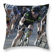 Criterium Bicycle Race 6 Throw Pillow