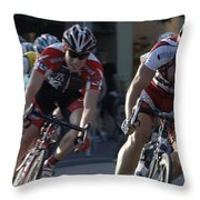 Criterium Bicycle Race 7 Throw Pillow