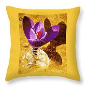 Crocus Graphic  Throw Pillow