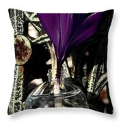 Crocus In A Bottle Number Two Throw Pillow
