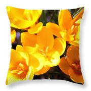 Crocuses In Yellow Throw Pillow