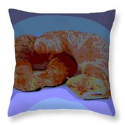 Croissants In Love Throw Pillow
