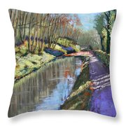 Cromford Canal Throw Pillow