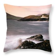 Cromwell Point Lighthouse, Valentia Throw Pillow