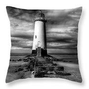 Crooked Lighthouse Throw Pillow