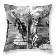 Croquet, 1873 Throw Pillow