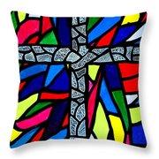 Cross No 9 Throw Pillow