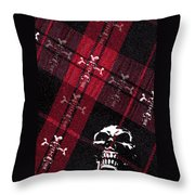 Cross Skulls Throw Pillow