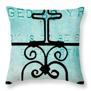 Crosses Voided Throw Pillow
