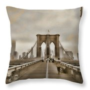 Crossing Over Throw Pillow by Joann Vitali