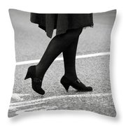 Crossing Road Throw Pillow