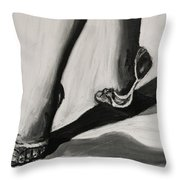 Crossing Shadows Throw Pillow