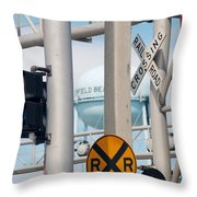 Crossing Signs Throw Pillow