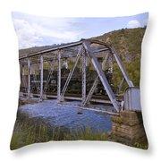 Crossing The Animas In Durango Throw Pillow