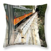 Crossing The Gorge Throw Pillow