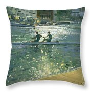 Crossing The Light Break - Henley Throw Pillow