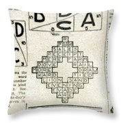 Crossword Puzzle, 1913 Throw Pillow