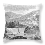 Croton Dam, 1860 Throw Pillow