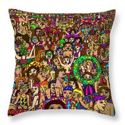 Crowded Swimming Pool Throw Pillow