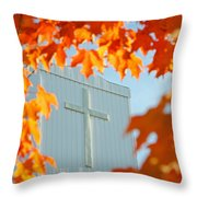 Crown Of Leaves Throw Pillow