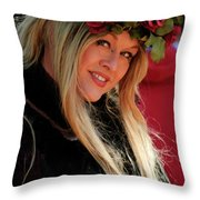Crowned By Nature Throw Pillow