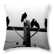 Crows And Insulators On Route 66 Throw Pillow